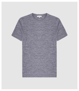 Reiss Prince - Melange Crew Neck T-shirt in Airforce Blue, Mens, Size XXL