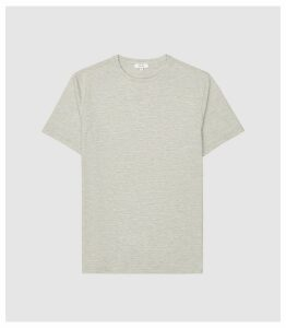 Reiss Walbrook - Melange T-shirt in Stone, Mens, Size XXL