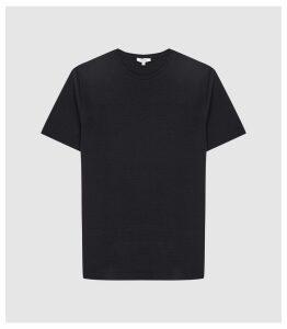 Reiss Walbrook - Melange T-shirt in Navy, Mens, Size XXL