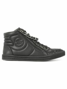 Chanel Pre-Owned CC sneakers shoes - Black