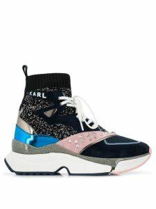Karl Lagerfeld studded colourblock sneakers - Black
