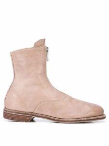 Guidi front zip boots - Neutrals