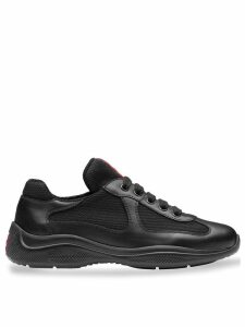 Prada Leather and fabric sneakers - Black