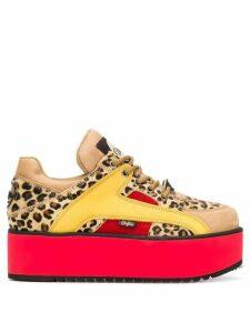 Buffalo leopard print sneakers - Neutrals