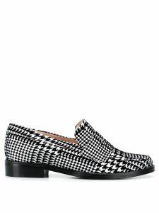 Leandra Medine check print loafers - Black