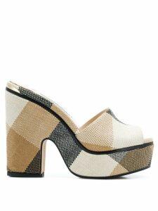 Jimmy Choo Deedee 125 sandals - Black/Caramel