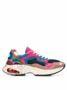 Premiata chunky low top trainers - PINK