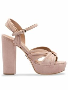 Prada chunky heel platform sandals - Neutrals