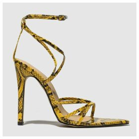 Public Desire Yellow Safari High Heels
