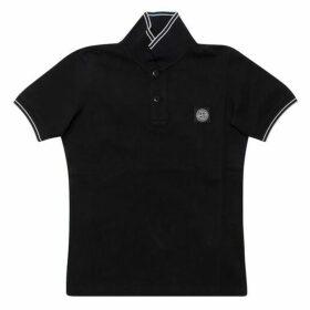 Stone Island Junior Polo Shirt Black 10yr - 14yr