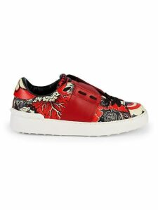 Graphic Leather Sneakers