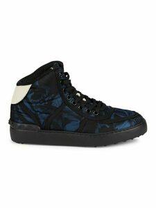 Floral-Print High-Top Sneakers