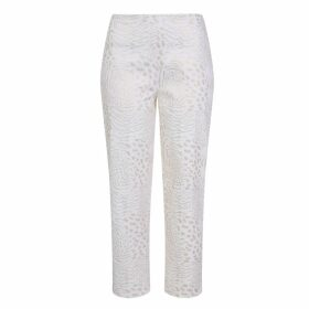 CocooVe - Straight Leg Crop Trouser Finlay In White With Gold