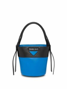 Prada Ouverture leather bucket bag - Blue