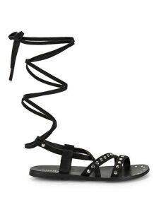Steeler Leather Flat Sandals