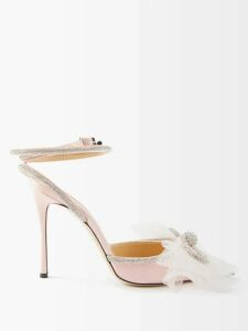 Ganni - Julliard Geometric Mohair And Wool Blend Sweater - Womens - Brown Multi