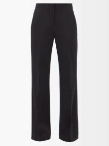 Mame Kurogouchi - Floral Print Silk Blend Fil Coupé Coat - Womens - Navy Multi