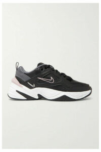 Nike - M2k Tekno Leather And Mesh Sneakers - Black