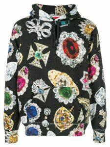 Supreme jewel print hoodie - Black