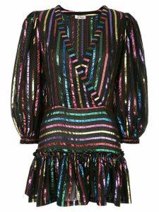 The Attico metallic stripe dress - Black