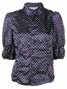 Comme Des Garçons Comme Des Garçons polka dot print blouse - Blue