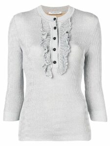 Philosophy Di Lorenzo Serafini ribbed button-down top - Metallic