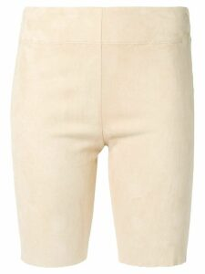 Jil Sander fitted high-rise shorts - Neutrals
