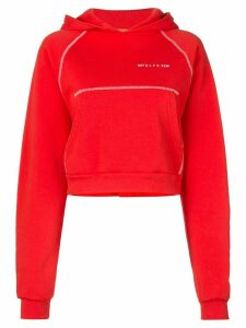 1017 ALYX 9SM cropped logo hoodie - Red