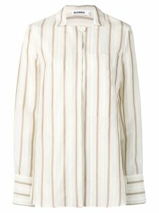 Jil Sander Giselle striped shirt - NEUTRALS