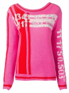 Ermanno Scervino graphic knit jumper - Pink