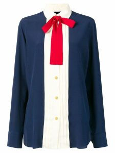 Gucci silk neck bow shirt - Blue