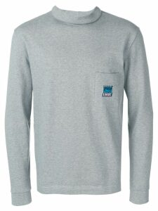 Anglozine Zine mock-neck sweater - Grey