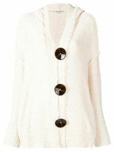 Stella McCartney hooded cardigan - White