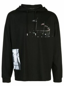 1017 ALYX 9SM contrast print hoodie - Black