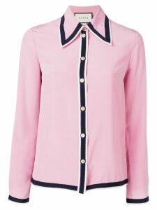 Gucci contrast trim shirt - PINK