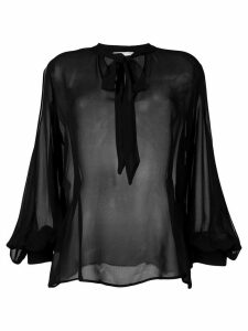 L'Autre Chose sheer loose-fit blouse - Black