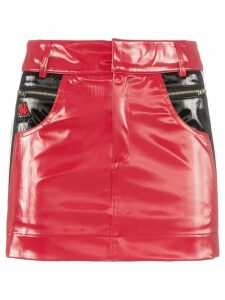 Charm's x Kappa Flame Line faux leather mini skirt - Red