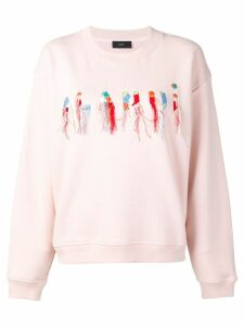Alanui logo embroidered sweatshirt - PINK