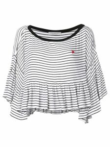 Philosophy Di Lorenzo Serafini striped drape sweater - White