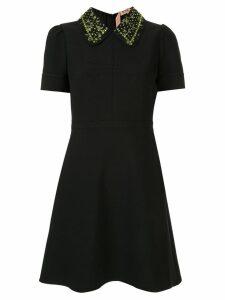 Nº21 embroidered collar dress - Black