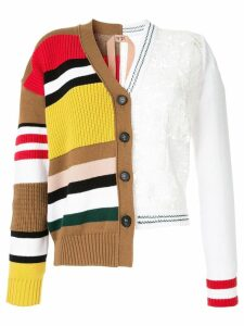 Nº21 mixed panel cardigan - Multicolour
