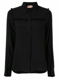 Nº21 ruffle panel blouse - Black