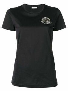 Moncler embellished logo appliqué T-shirt - Black