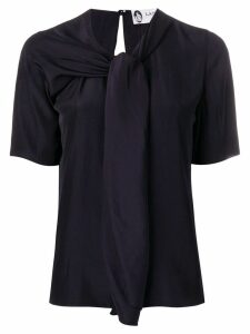 LANVIN scarf-neck blouse - Black