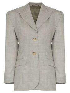Wright Le Chapelain single-breasted tailored blazer - Grey