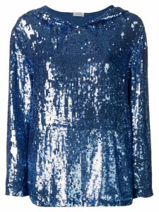 P.A.R.O.S.H. sequin hoodie - Blue