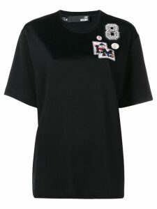 Love Moschino patch detail T-shirt - Black