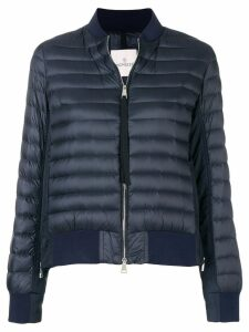 Moncler padded panelled bomber jacket - Blue