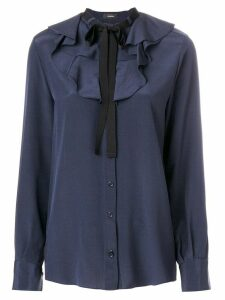 Joseph ruffled bow blouse - Blue