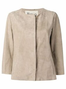 Herno 3/4 sleeve jacket - Neutrals